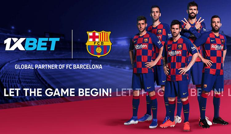 1XBET tài trợ cho Barcelona